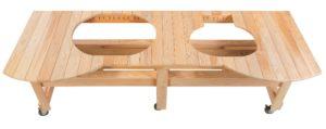 TABLE POUR ÉVÉNEMENT EN CYPRÈS POUR OVAL XL 400 00604-0